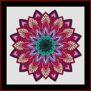 mandala 76 (small) cross stitch pattern by kathleen george at cross stitch collectibles