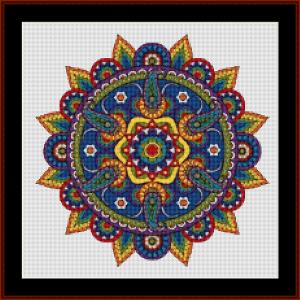 mandala 77 (small) cross stitch pattern by kathleen george at cross stitch collectibles