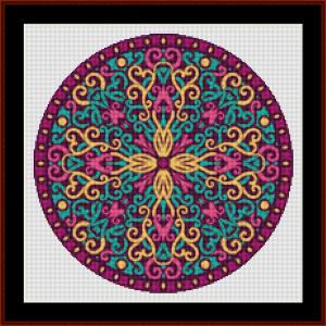 mandala 78 (small) cross stitch pattern by kathleen george at cross stitch collectibles