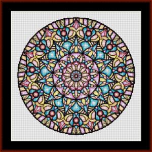 mandala 79 (small) cross stitch pattern by kathleen george at cross stitch collectibles