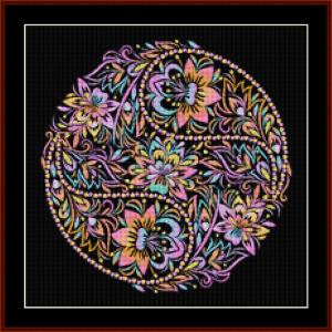 mandala 80 (small) cross stitch pattern by kathleen george at cross stitch collectibles