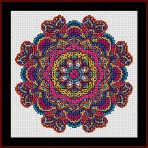mandala 85 (small) cross stitch pattern by kathleen george at cross stitch collectibles