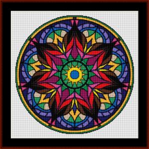 mandala 82 (small) cross stitch pattern by kathleen george at cross stitch collectibles