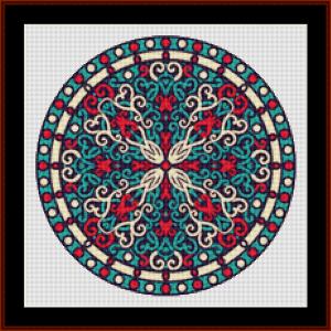 mandala 83 (small) cross stitch pattern by kathleen george at cross stitch collectibles