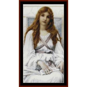 la pensierosa ii – henry ryland cross stitch pattern by kathleen george at cross stitch collectibles