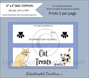 cat treats bag toppers