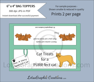 cat treats for a purr-fect cat bag toppers