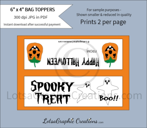 Spooky Treat Bag Toppers | Other Files | Arts and Crafts