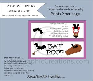 bat poop bag toppers