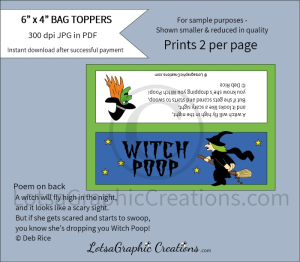 witch poop bag toppers 1