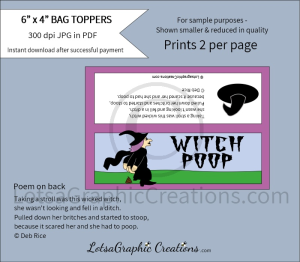 witch poop bag toppers 2