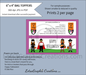 happy halloween bag toppers 3