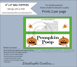 pumpkin poop bag toppers