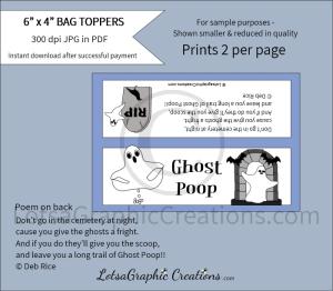ghost poop bag toppers
