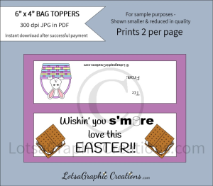wishin you s'more love this easter treats bag toppers