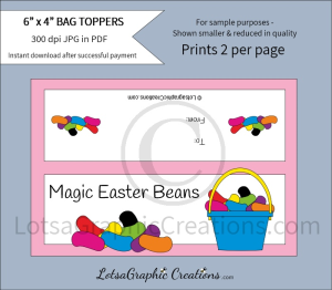 magic easter beans treats bag toppers