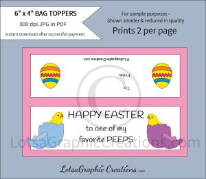 happy easter to one of my favorite peeps treats bag toppers