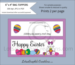 happy easter treats bag toppers 1