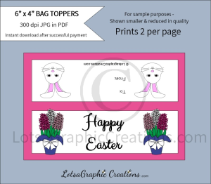 happy easter treats bag toppers 2