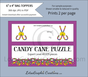 easter candy cane puzzle expert level bag toppers