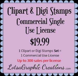 clipart&digistampsetscommercialsingleuselicense