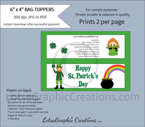 happy st. patrick's day bag toppers 1