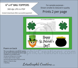 happy st. patrick's day bag toppers 2