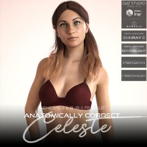 Anatomically Correct: Celeste for Genesis 3 and Genesis 8 Female (8.1) | Software | Design