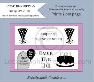over the hill bag toppers 1