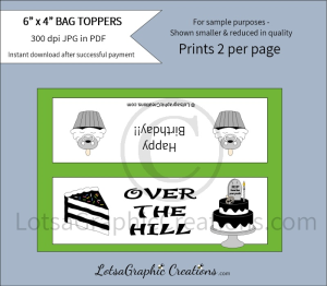 over the hill bag toppers 2