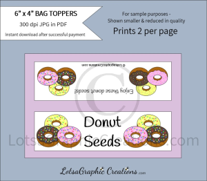 donut seeds bag toppers