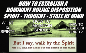 how to establish a domainant ruling disposition - spirit - thought - state of mind