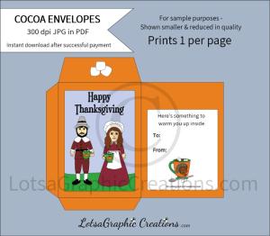 happythanksgivingpilgrimshotcocoaenvelope