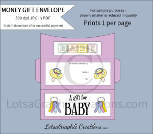 a gift for baby money gift envelope
