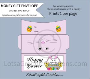 happy easter money gift envelope