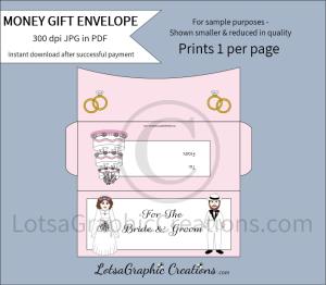for the bride & groom white money gift envelope