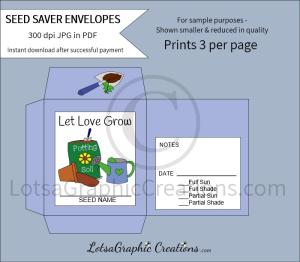let love grow seeds saver envelopes