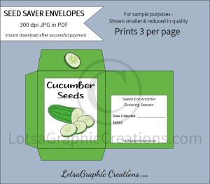 cucumber seeds saver envelopes