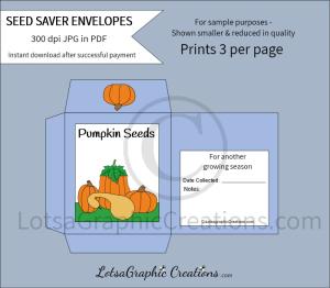 pumpkin seeds saver envelopes