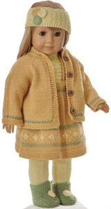 DollKnittingPattern 0223D Ragna- Skirt, sweater, tights, jacket, shoes and hairband-(English)   Crafting   Knitting   Other