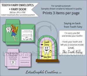 tooth broken tooth fairy envelopes & fairy door