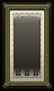 baroquely framed