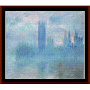 Houses of Parliament III - Monet cross stitch pattern by Cross Stitch Collectibles | Crafting | Cross-Stitch | Other