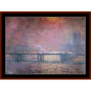 The Thames at Charing Cross - Monet cross stitch pattern by Cross Stitch Collectibles | Crafting | Cross-Stitch | Other