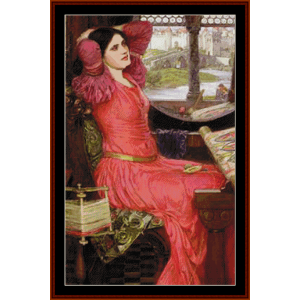 Half Sick of Shadows, Detail - Waterhouse cross stitch pattern by Cross Stitch Collectibles | Crafting | Cross-Stitch | Other