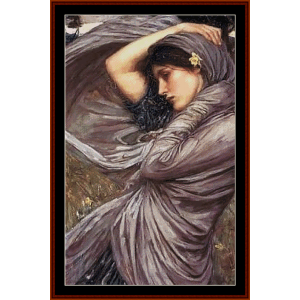 Boreas, Detail - Waterhouse cross stitch pattern by Cross Stitch Collectibles | Crafting | Cross-Stitch | Other