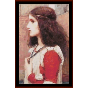 Juliet, Detail - Waterhouse cross stitch pattern by Cross Stitch Collectibles | Crafting | Cross-Stitch | Other