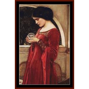The Crystal Ball, Detail - Waterhouse cross stitch pattern by Cross Stitch Collectibles | Crafting | Cross-Stitch | Other