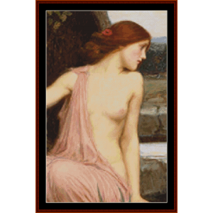 echo and narcissus, detail - waterhouse cross stitch pattern by cross stitch collectibles
