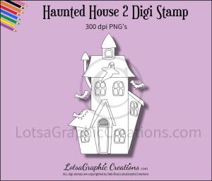 haunted house 2 digi stamp
